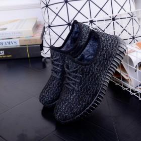 秋冬款椰子棉鞋单鞋男款黑色