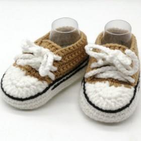 宝宝婴儿鞋子材料包手工diy钩针婴儿手工鞋