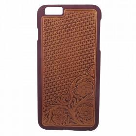 浮雕iPhone6保护套 皮革雕纹手机壳 皮雕外套