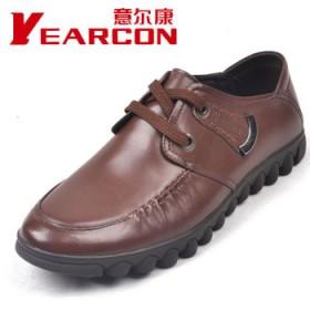 清仓特价,意尔康品牌真皮商务休闲皮鞋头层牛皮