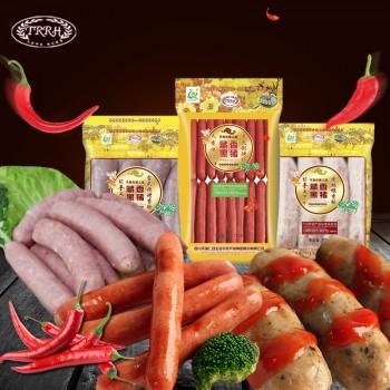 天籁之香藏香黑猪西式餐肠热狗烤肠礼包送250g猪油