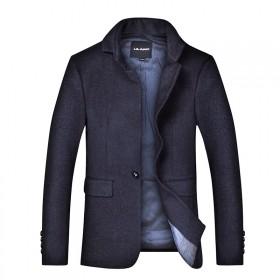 利郎男装正品新款秋冬款呢子大衣羊绒大衣Y外套