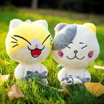 【包邮】 创意猫吃鱼 猫公仔可爱猫猫毛绒玩具玩偶娃娃
