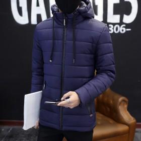 冬季新款棉衣男士韩版连帽冬天棉服外套