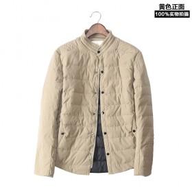 冬季韩版修身轻薄男式羽绒服 男士外套短款加厚青年冬