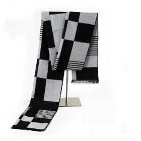 男士围巾 羊绒保暖披肩 民族风格子围巾