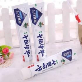 品牌云南田七清火清新口气去口臭护龈草本美白防蛀牙膏