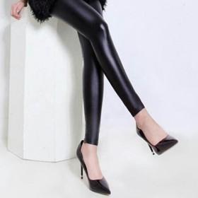 秋冬款女皮裤加绒加厚保暖哑光高腰显瘦