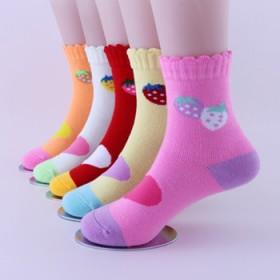 5双独立儿童袜子2016秋冬新款男女童加厚卡通袜