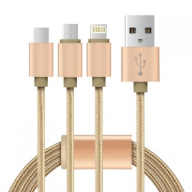 ctx一拖三通用数据线小米充电线苹果6充电线