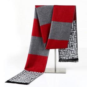 男士围巾 羊绒保暖披肩 民族风格子围脖