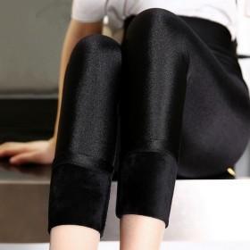 (厂家直销)280g光泽裤冬季加绒加厚外穿打底裤女