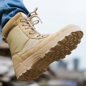 秋季户外高帮特种兵作战靴陆战靴沙漠靴耐磨透气登山靴