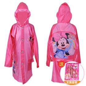 迪士尼儿童雨衣带书包位男童女童米奇小孩子雨披学生雨