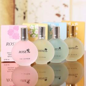专柜品牌百合茉莉玫瑰花果香调香水持久清新淡香