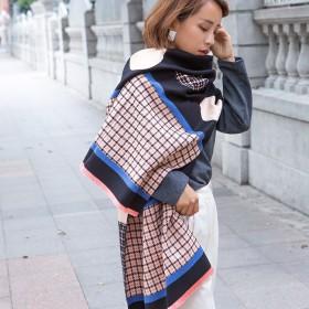 新款 千鸟格 羊绒围巾 女披肩