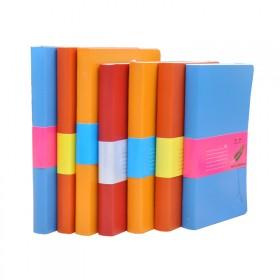 11本盒装彩页笔记本皮革面日记本