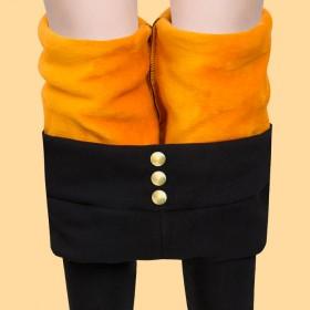修身加绒保暖裤打底裤