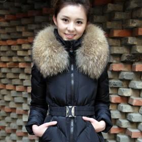 一品良服韩版新款潮冬装中长款羽绒服女