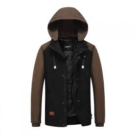 新款男装韩版外套夹克青年休闲外衣修身百搭连帽夹克
