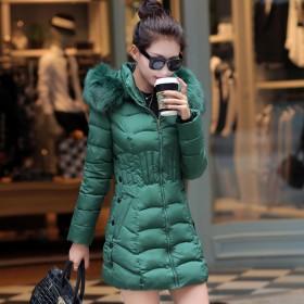 新款棉衣女冬季中长款羽绒棉服显瘦外套加厚女装大毛