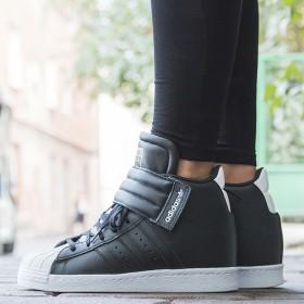 阿迪达斯 三叶草SUPERSTAR内增高板鞋女鞋