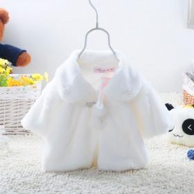 2016秋冬装童装女宝宝披肩外套婴儿短外套女童坎肩