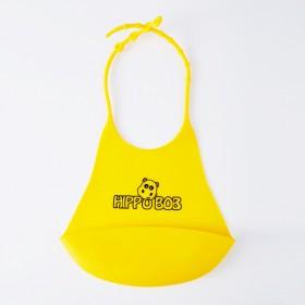 儿童硅胶围兜婴儿围兜小孩吃饭喂饭幼儿口水兜防水围兜