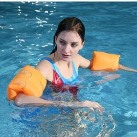 夏季游泳水袖 充气手臂浮圈加厚浮力水袖套儿童nj