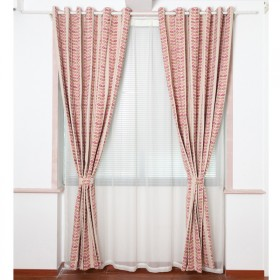 ZINA宽幅加厚双层雪尼尔遮光布韩式田园窗帘