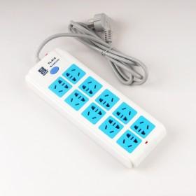 10插位经典蓝白家用电源插座插排