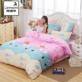 卡通1.8床上用品四件套4被套1.5m学生宿舍寝室