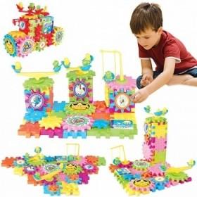 豪华89片装创意大比拼百变积木 电动积木玩具儿童