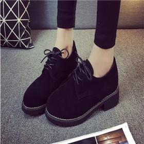 2016秋单鞋女鞋低帮鞋韩版时尚圆头短靴舒适耐磨潮
