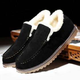 九张帆冬季加绒保暖棉鞋男士豆豆鞋潮鞋休闲鞋加厚男鞋