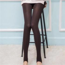 韩版新款 显瘦加厚拉绒九分踩脚小脚裤 女连裤袜