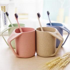 2支装(请拍2只)小麦秸洗漱杯家用情侣口杯子牙刷杯