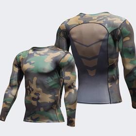 pro男运动紧身衣健身服长袖T恤速干衣运动服压缩衣