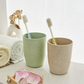 4支装(请拍2组)环保情侣小麦水杯刷牙杯子洗漱口杯