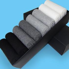 【优惠8双盒装】纯棉男士中筒袜,吸汗防臭商务袜耐磨
