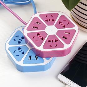 柠檬插座创意智能USB插线板多功能排插多用充nj