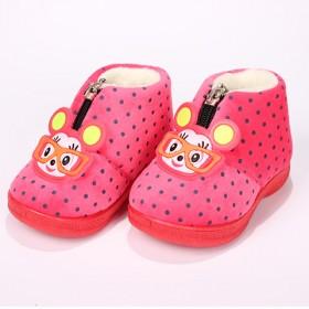 婴幼儿学步鞋软底秋冬男女宝宝加绒加厚保暖棉鞋