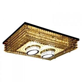 客厅灯长方形水晶灯大气遥控创意简约现代主卧室led