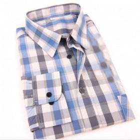 男士衬衫男长袖时尚休闲青年男装衬衣服潮加大加胖