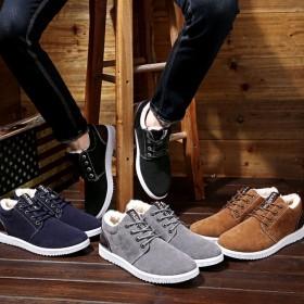 男鞋冬季保暖加绒靴子工装鞋雪地靴