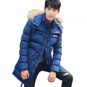 男士中长款棉衣 冬季韩版休闲男装青年男式棉袄外套