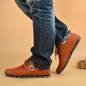 男士布鞋英伦休闲鞋透气舒适防滑潮鞋户外鞋