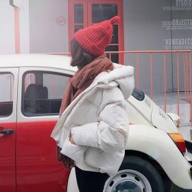 韩国东大门棉服羽绒服面包服连帽外套加厚保暖