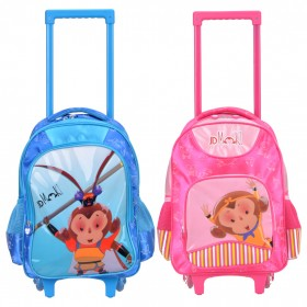 送笔袋 JDMOKI小学生拉杆书包可背放假最后专享