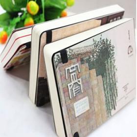 悦木成都印象手绘笔记本 超厚创意精装手帐本日记